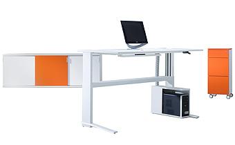 iMOVE-Zubehoer - höhenverstellbarer Schreibtisch
