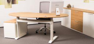 Leuwico - Büroeinrichtung Bambus mit ergonomische Büromöbel
