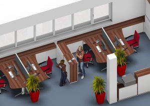 Leuwico - Büroplanung und Bürokonzept mit Trennwänden