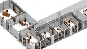 Leuwico - Büroplanung und Bürokonzept mehrere Büroräume