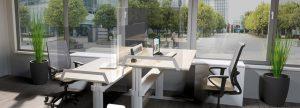 LEUWICO Glastrennwand Schreibtisch