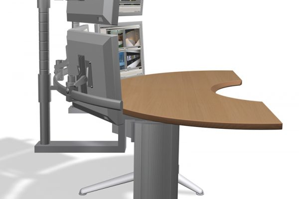 Multi Monitor Workstation - Videokontrollstation von LEUWICO Österreich