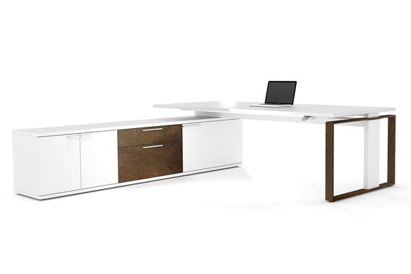 Höhenverstellbare Steh Sitz Schreibtische von LEUWICO