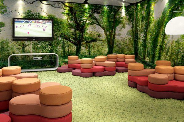Moderne Office Lounge mit Möbel von LEUWICO Österreich